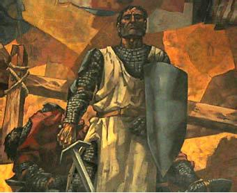El Cid en un mural de José Vela Zanetti